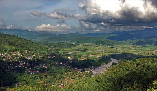Kok River Tal bei Tha Ton reingewaschen