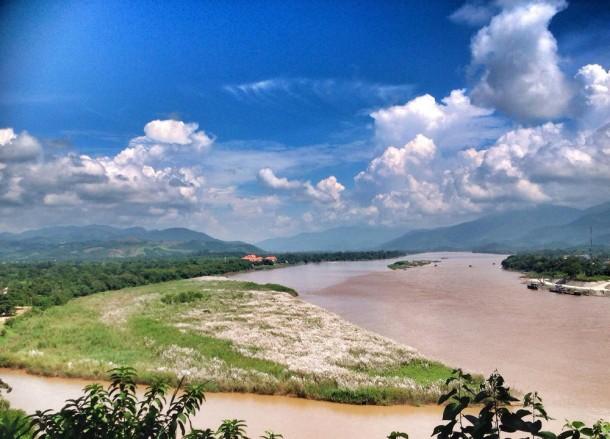 Nordthailand das goldene Dreieck Mekhong und Ruak Fluss